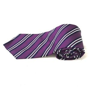Brooks Brothers Mens Purple Striped Neck Tie